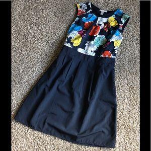 Banana Republic size 12 floral sleeveless dress